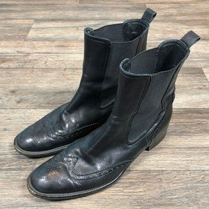 Other - VTG Italian Leather Wingtip Boots Sz. 39.5 S106